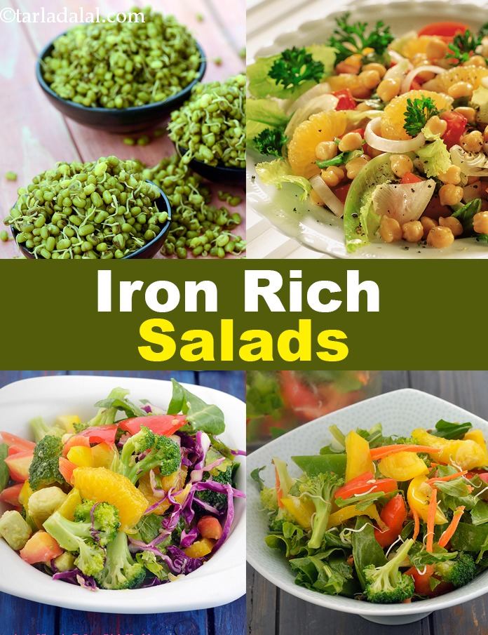 Iron Rich Salad Recipes Iron Rich Indian Salads Veg