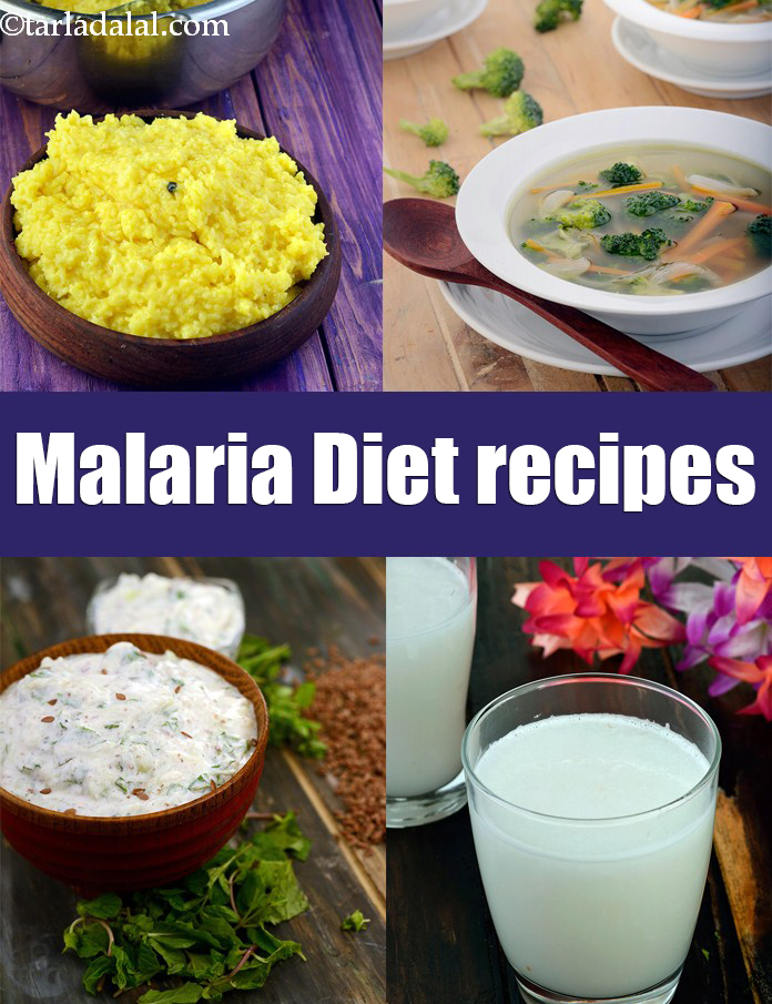 what foods can i eat with malaria