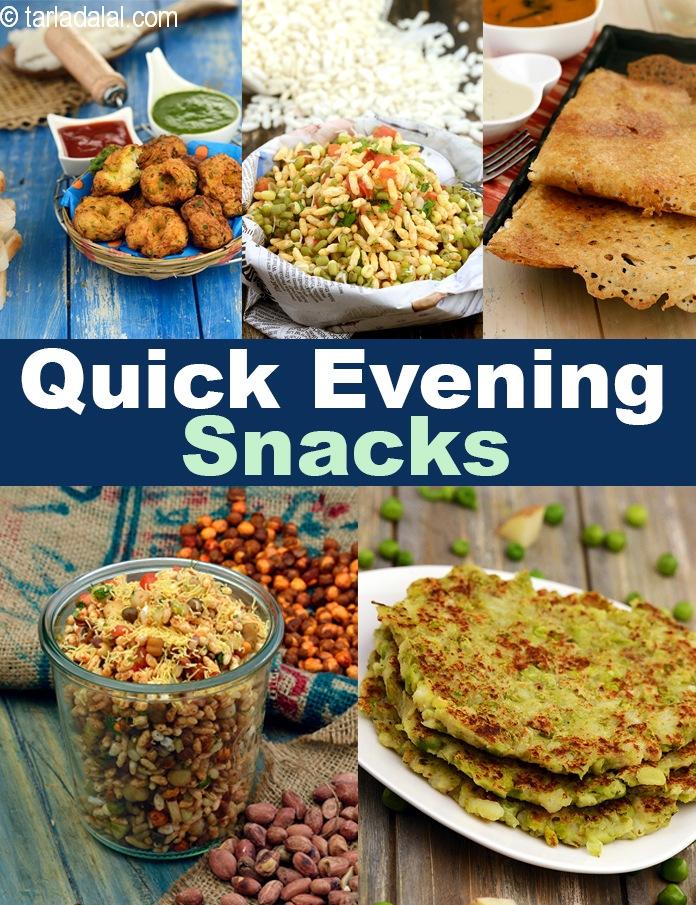 273 Quick Evening Snacks Indian Veg Evening Snacks Tarla Dalal
