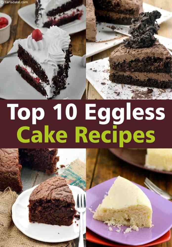 Astounding Top 10 Eggless Cake Recipes Tarladalal Com Personalised Birthday Cards Arneslily Jamesorg