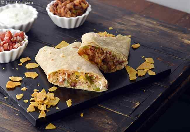 Top 10 mexican recipes tarladalal 111 by tarla dalal recipe image burritos are almost synonymous with mexican cuisine yummy tortillas packed with rice re fried beans salsa sour cream and forumfinder Choice Image