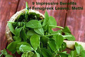 health benefits of fenugreek leaves