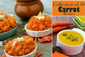 collection of 30 carrot recipes, gajar recipes