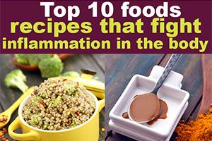 Top 10 Foods And Recipes To Fight Inflammation In The Body