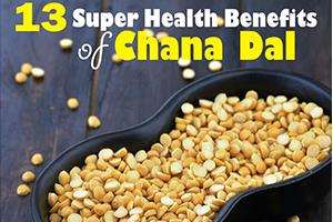 health benefits of chana dal (split bengal gram)