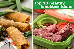top 10 healthy lunch box ideas, veg tiffins