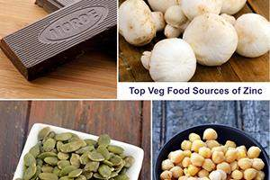 high zinc veg food sources