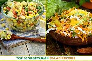 top 10 vegetarian salad recipes