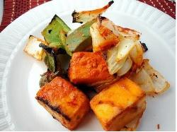 Grilled Haldi Chilli Paneer with Cherry Chutney