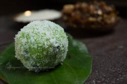 Paan Ki Ladoo- Betel Leaves and Coconut Fudge