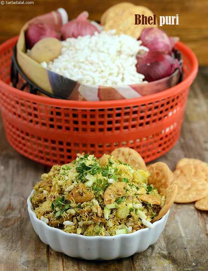 Bhel puri bhel puri chaat recipe recipe quick indian healthy bhel puri bhel puri chaat recipe forumfinder Choice Image