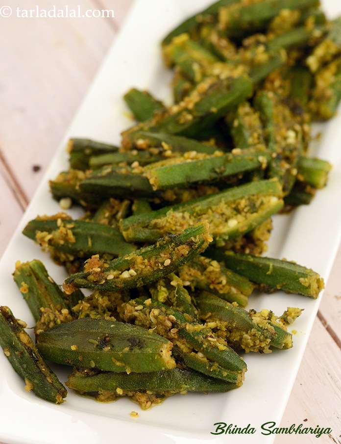 Bhinda sambhariya gujarati recipe recipe gujrati recipes by bhinda sambhariya is an irresistible preparation of fresh okras stuffed with an exciting sesame forumfinder Image collections
