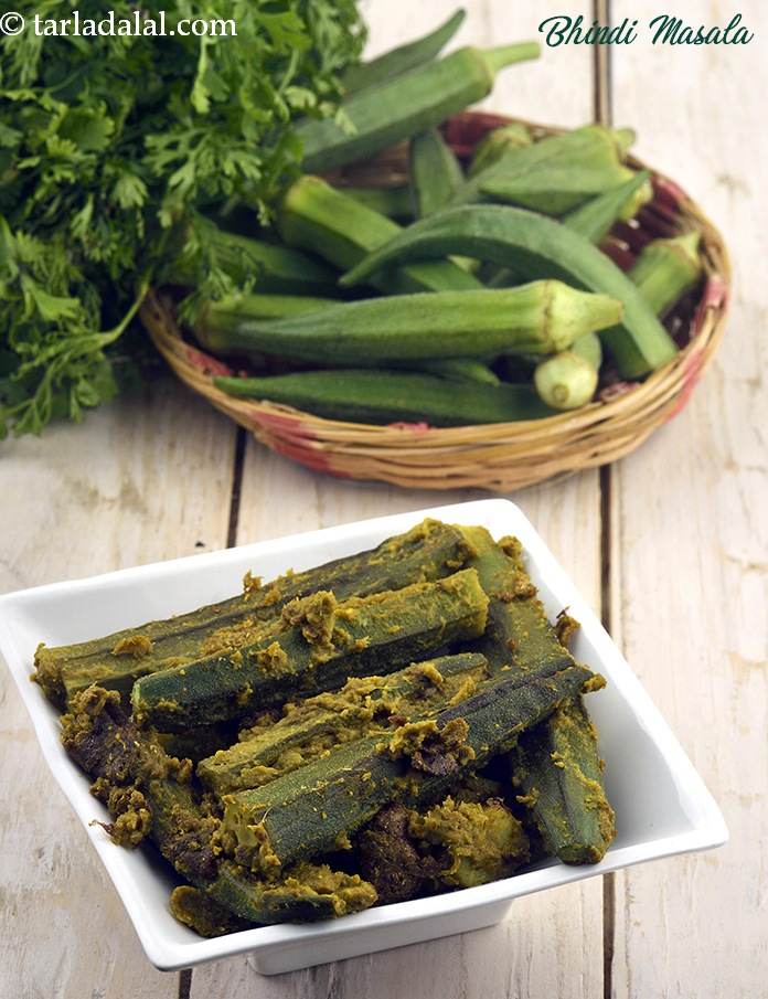 Bhindi Masala (   Zero Oil Recipe)