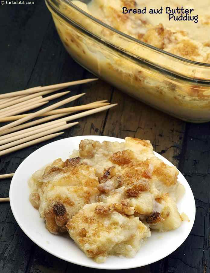 Bread And Butter Pudding Eggless Bread And Butter Pudding Recipe