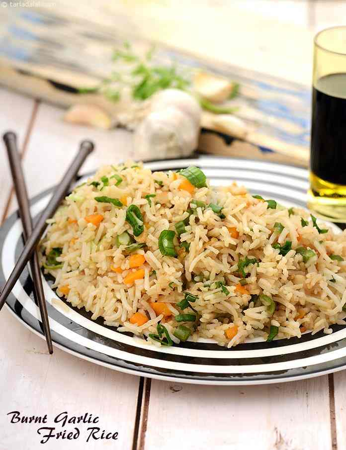 Burnt garlic fried rice recipe by tarla dalal tarladalal burnt garlic fried rice ccuart