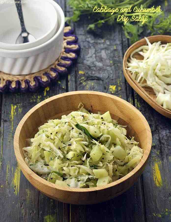 Cabbage and Cucumber Dry Sabzi