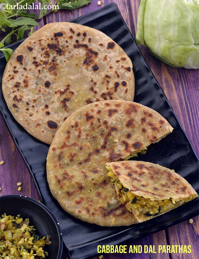 Cabbage and Dal Parathas