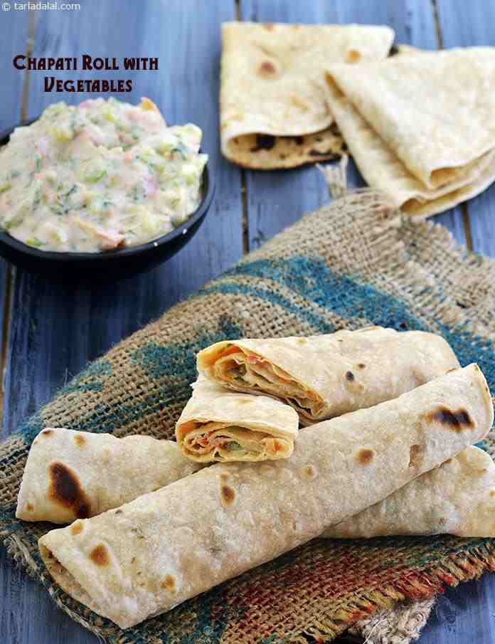 Chapati Roll with Vegetables