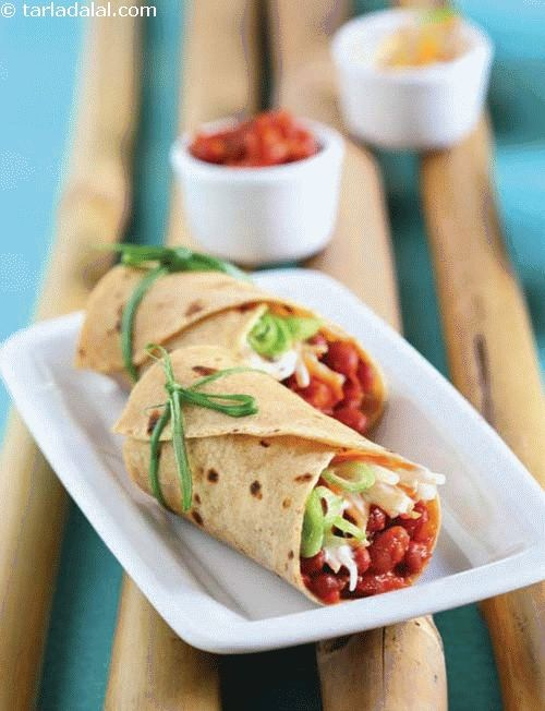 Chatpata Rajma Wrap ( Wraps and Rolls)