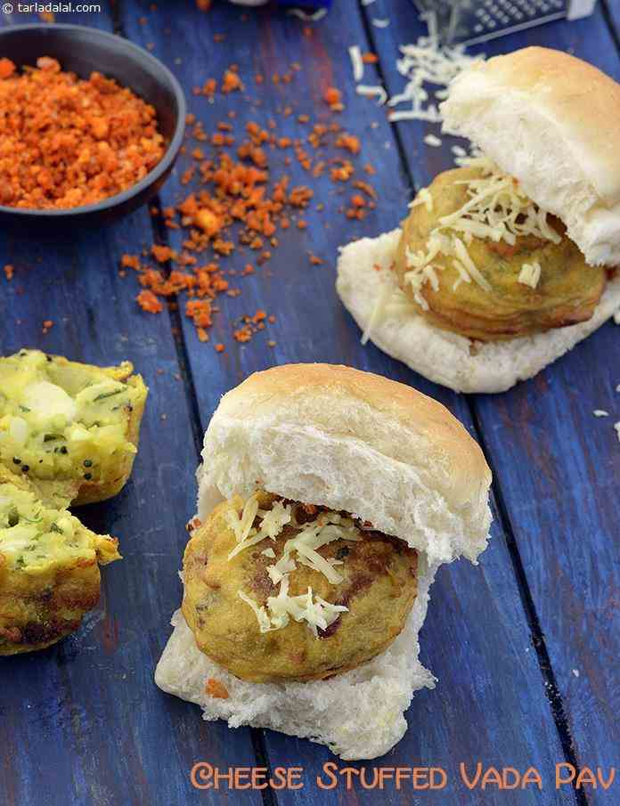 Cheese Stuffed Vada Pav