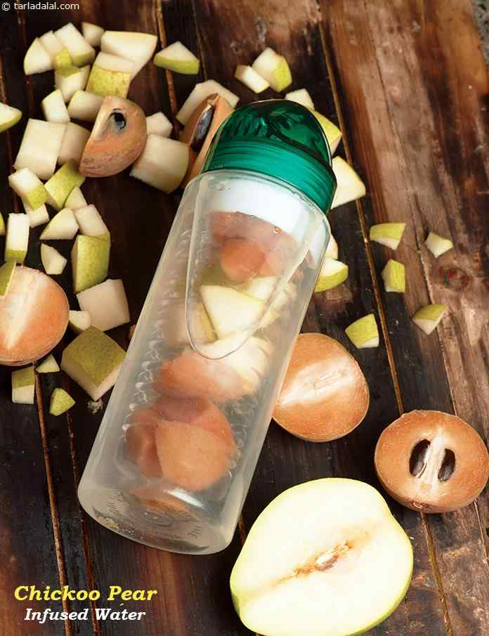 Chickoo Pear Infused Water
