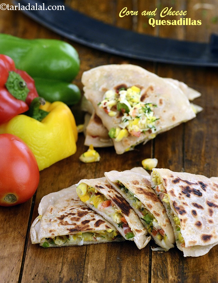 Corn and Cheese Quesadillas ( Mexican)