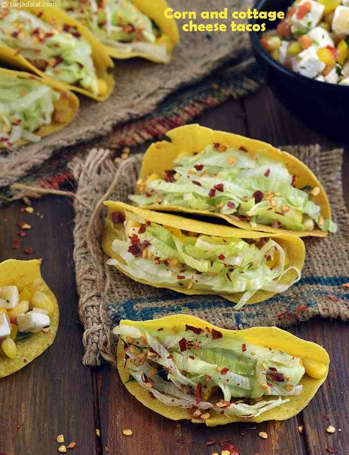 Corn and Cottage Cheese Tacos