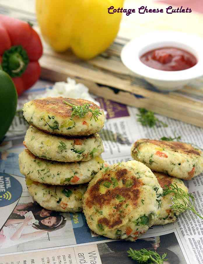 Cottage Cheese Cutlets, made with grated paneer and cooked rice bound together by plain flour, these scrumptious Jain-friendly cutlets are perked up with green chillies and capsicums of varied colours.