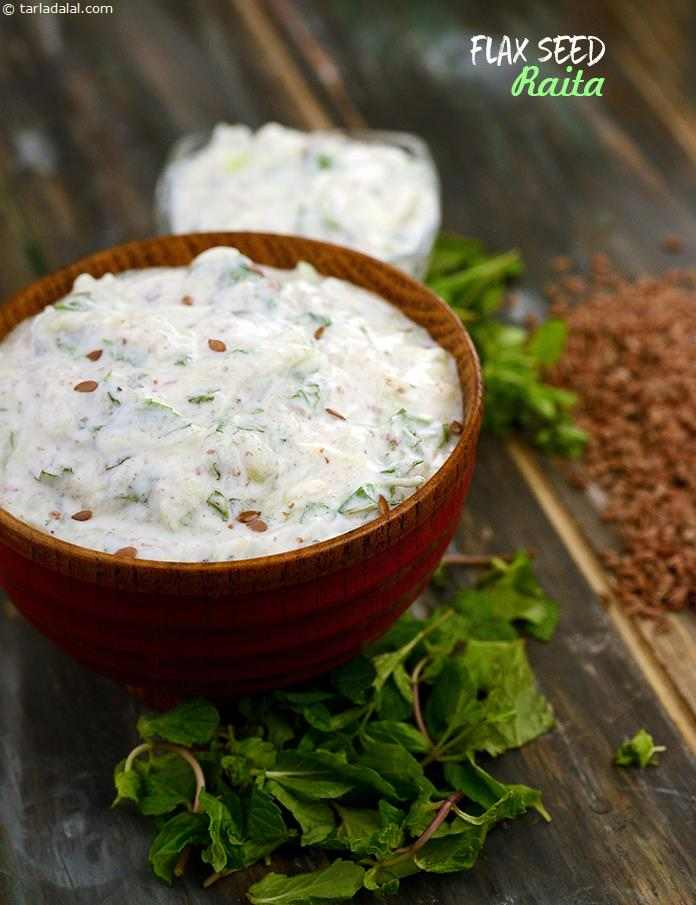 Combine flax seeds with calcium-rich curds to make a delectable Flax Seed Raita. Grated bottle gourd adds volume to this dish, while mint gives it an awesome flavour.