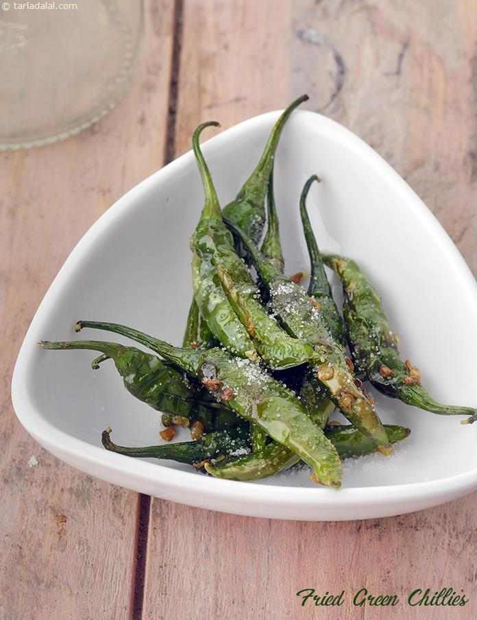 Fried Green Chillies