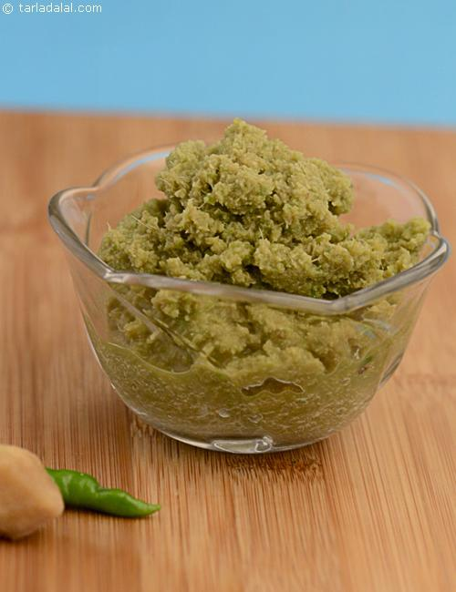 Ginger- Green Chilli Paste, a basic paste to spice up many recipes.