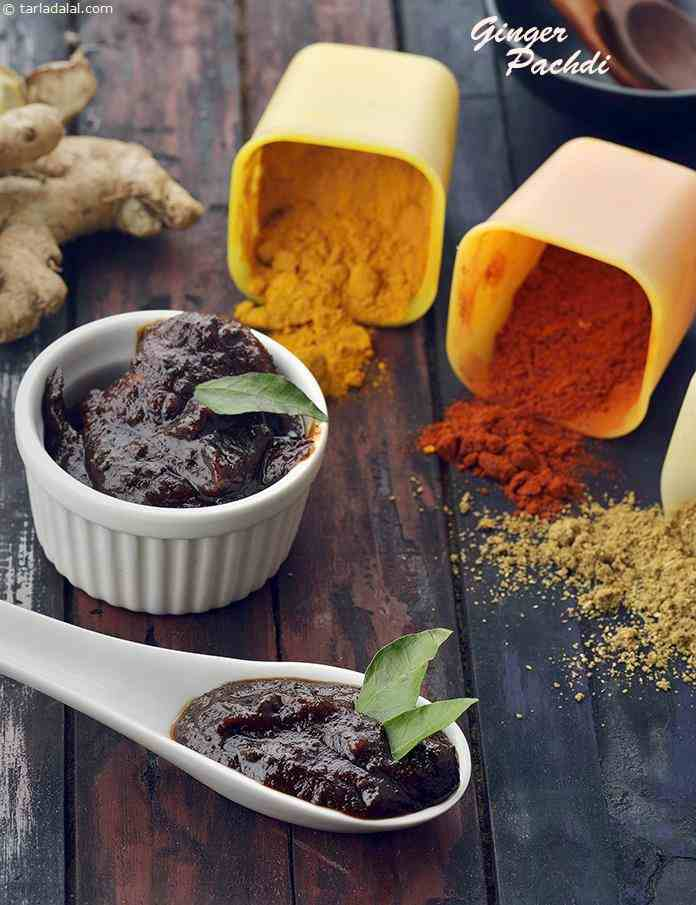Ginger Pachdi, Ginger Chutney, South Indian Recipe