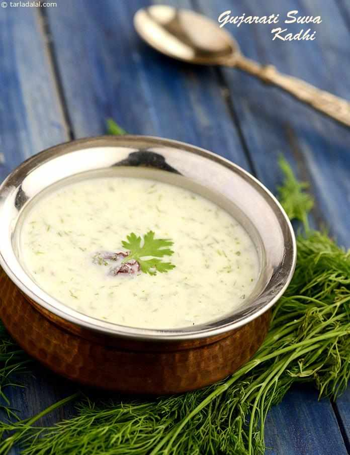 Gujarati Suva Kadhi, an ever popular choice in Gujarati household, to your surprise is good enough to make up for ¼ of your day's calcium requirement.