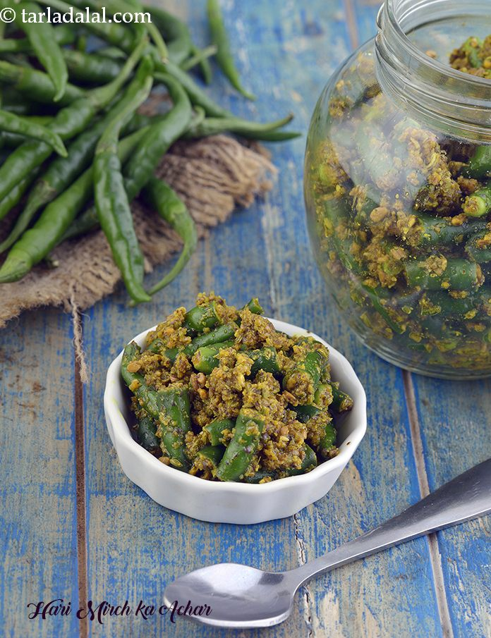 Hari Mirch ka Achar, Instant Green Chilli Pickle
