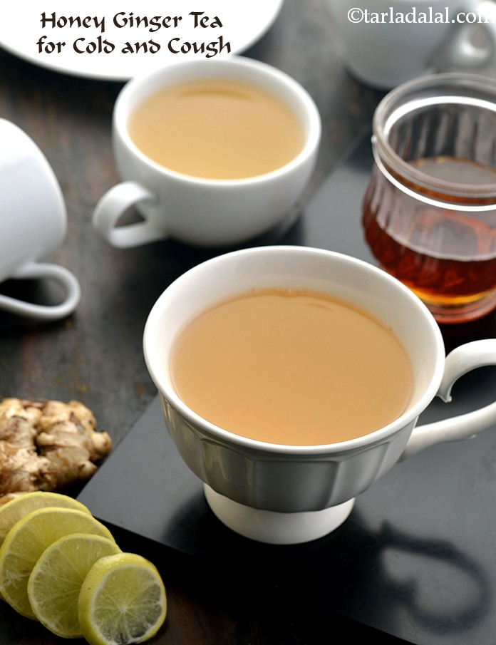 Honey Ginger Tea, Home Remedy for Cough Cold
