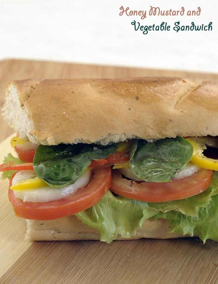 Honey Mustard and Vegetable Sandwich