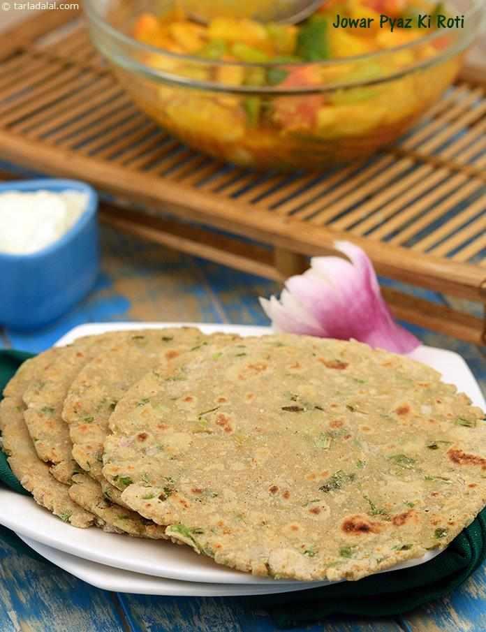 Jowar Pyaz Ki Roti Healthy Breakfast