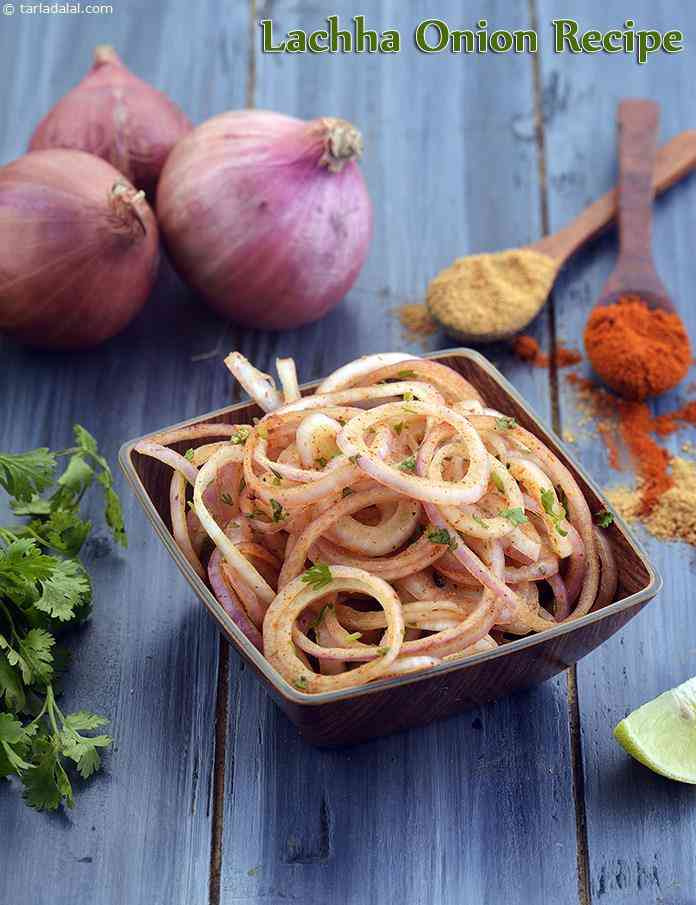 Lachha Onion Recipe, Onion Ring Accompaniment