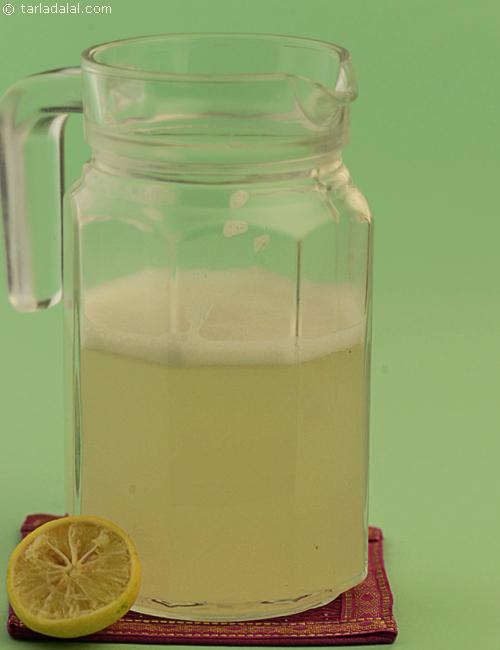 Lemon Cooler, tangy sweet lemon drink flavoured with rose water.