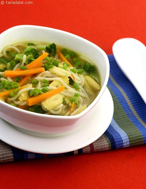 Lemon Grass Noodle Soup, is an aromatic stir-fried vegetable soup flavoured with lemon grass that is sure to fire off the meal successfully!