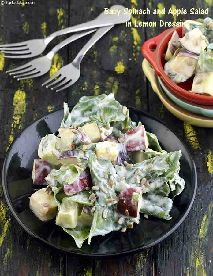 Lettuce and Apple Salad with Lemon Dressing ( Healthy Salads Recipe)