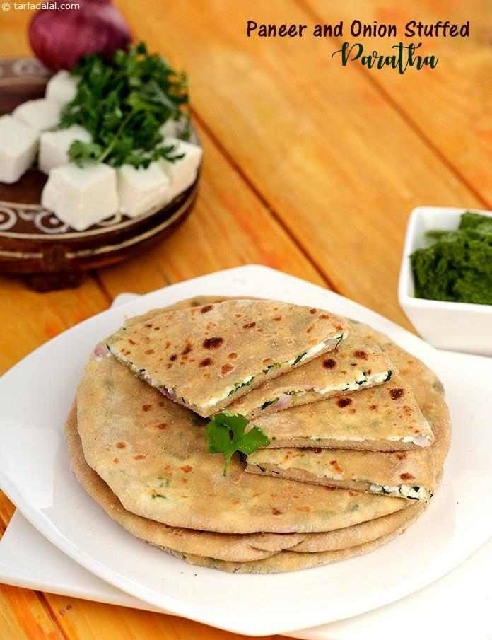Paneer and Onion Stuffed Paratha