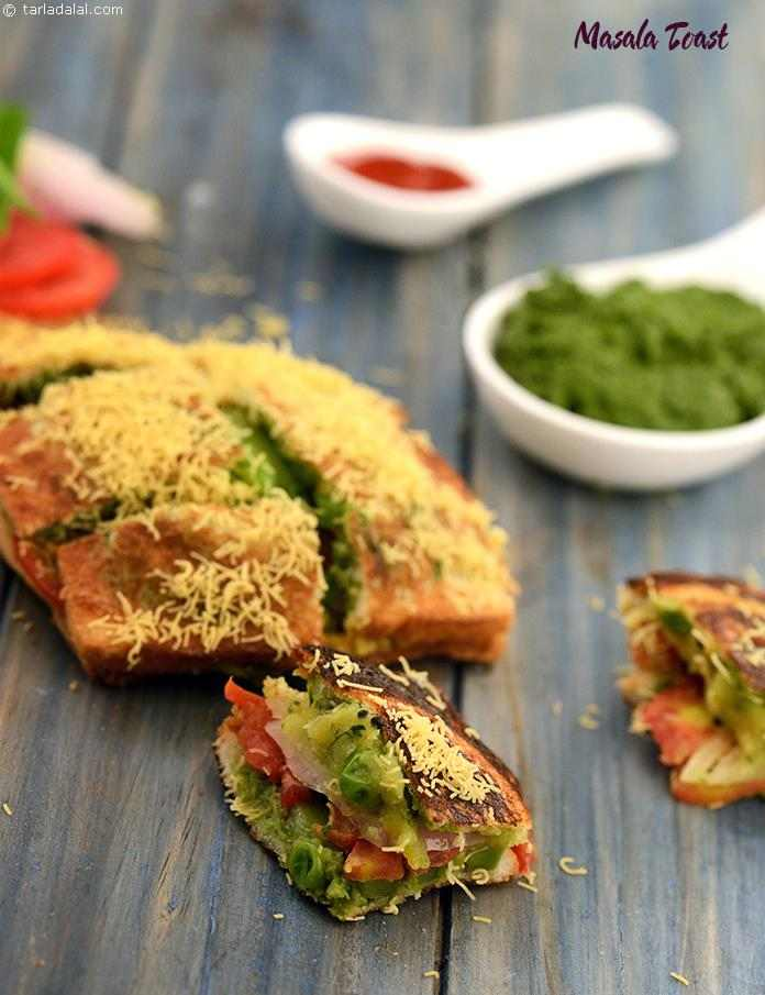 Masala toast, the humble potato comes to the rescue once again, to calm your hunger pangs! the unique stove and toaster used to make these toasts is a typical trademark of street-side food.