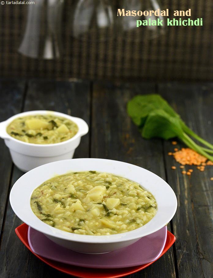 Masoor Dal and Palak Khichdi recipe | by Tarla Dalal | Tarladalal.com ...