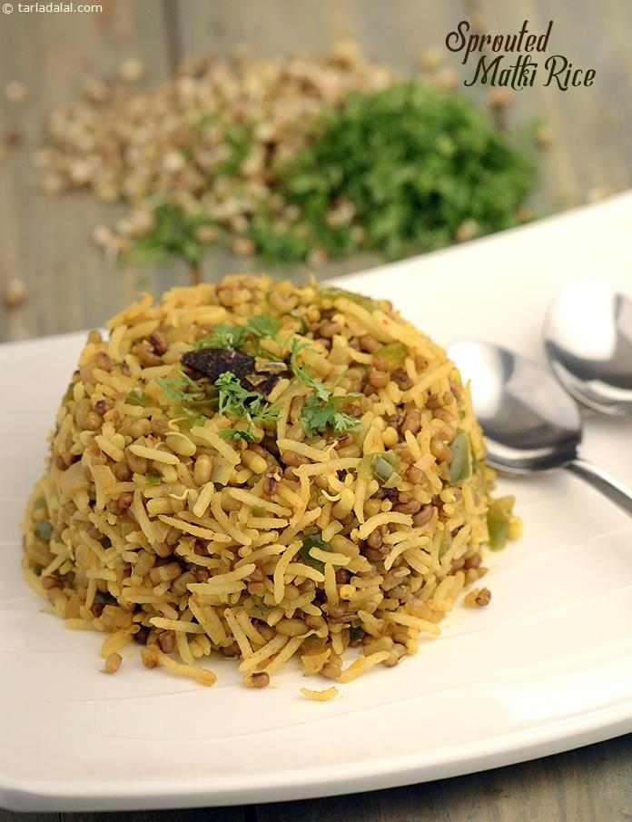 Sprouted Matki Rice