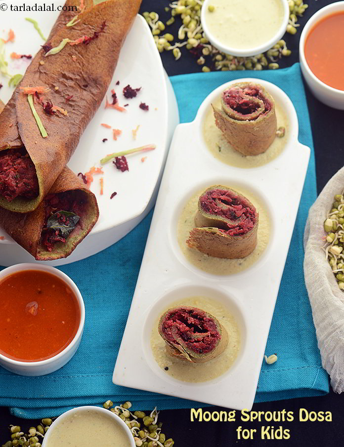 Moong Sprouts Dosa for Kids