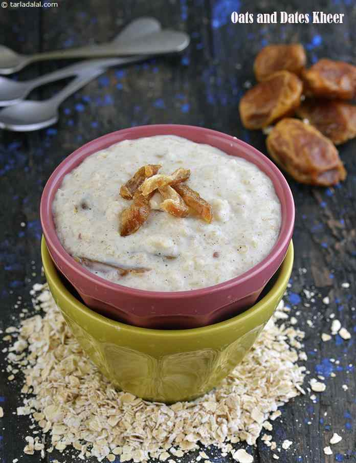 Oats and Dates Kheer, Healthy Indian Dessert Without Sugar