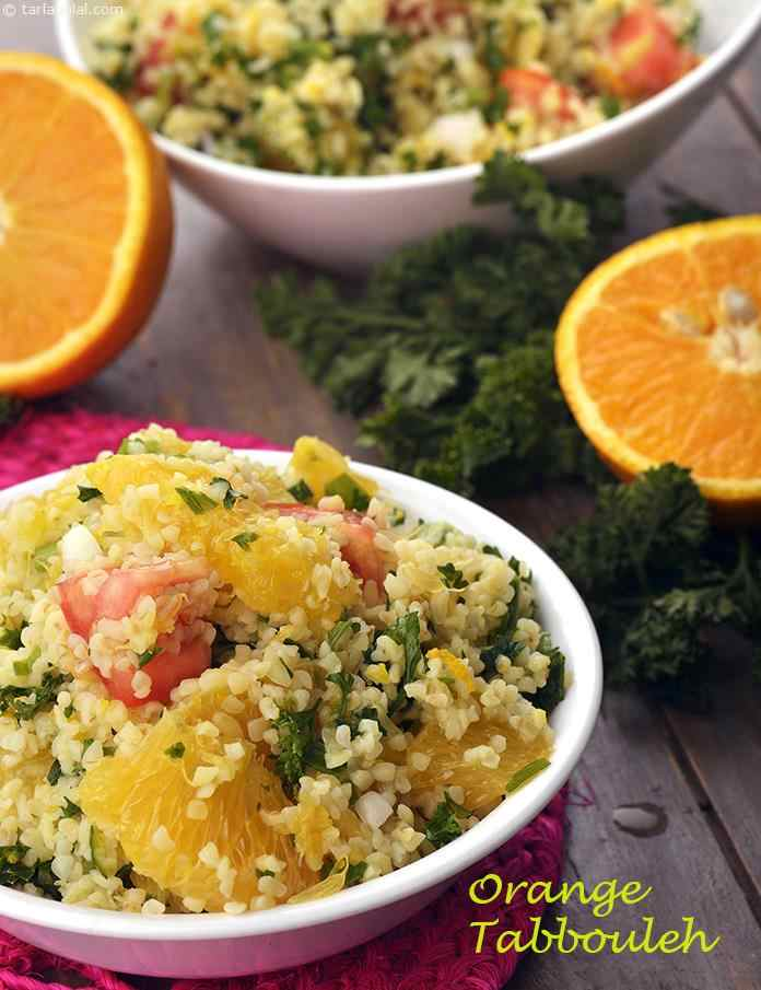 Orange Tabbouleh, Healthy Orange Tabbouleh