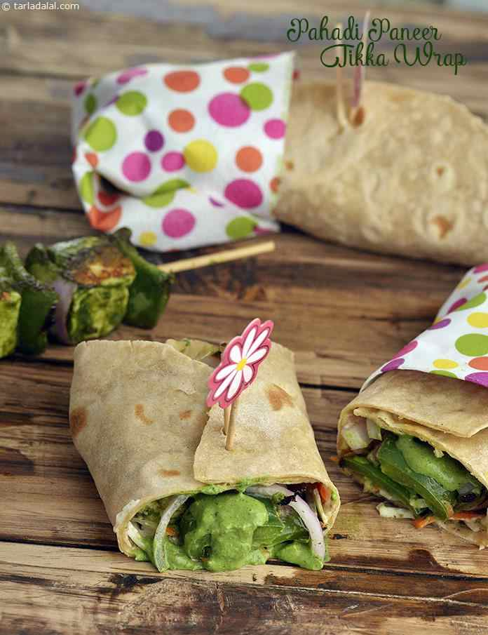 Pahadi Paneer Tikka Wrap (wraps and Rolls)