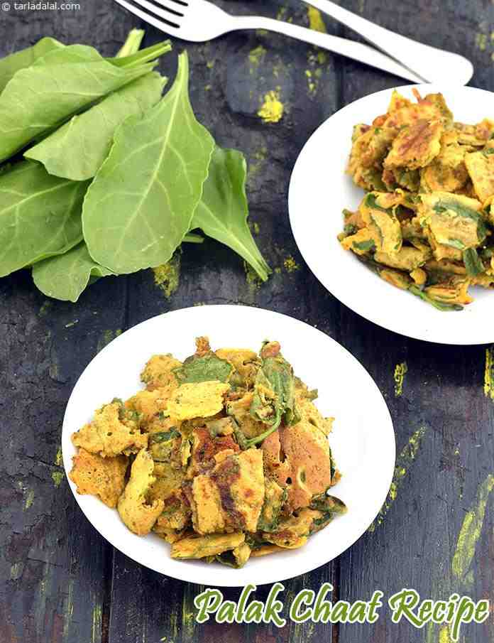Palak Chaat Recipe, Healthy Palak Chaat